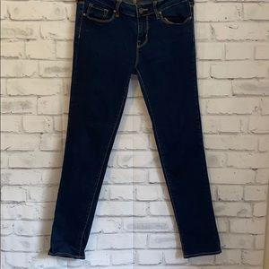 Bullhead dark wash skinny jeans